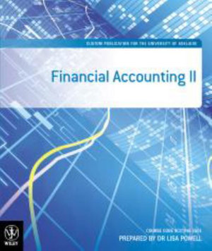 Cover of Company Accounting 9E B&w Custom for the Uni of   Adelaide
