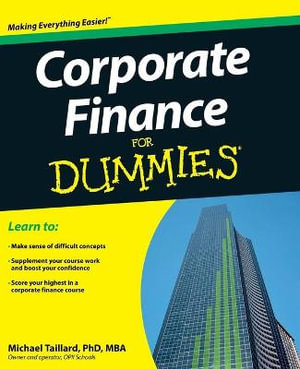 Cover of Corporate Finance For Dummies