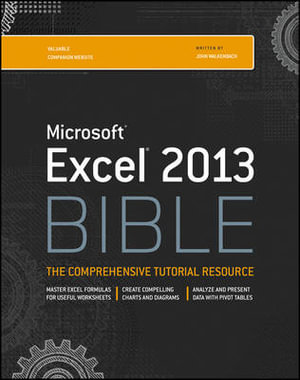 Cover of Excel 2013 Bible