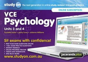 Cover of StudyOn VCE Psychology Unit 3 and 4 and Booklet