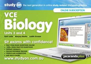 Cover of StudyOn VCE Biology Units 3&4 and Booklet