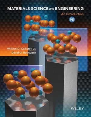 Cover of Materials Science and Engineering an Introduction 9E + WileyPlus Registration Card