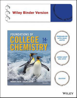Cover of Foundations of College Chemistry 14E Binder Ready Version + WileyPlus Registration Card