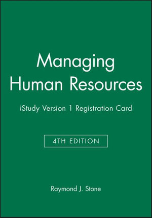 Cover of Managing Human Resources 4E Istudy Version 1 Registration Card