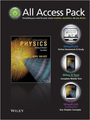 Cover of Fundamentals of Physics 10th Edition All Access Pack Version