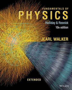 Cover of Fundamentals of Physics Extended 10E Binder Ready Version with WileyPlus Card
