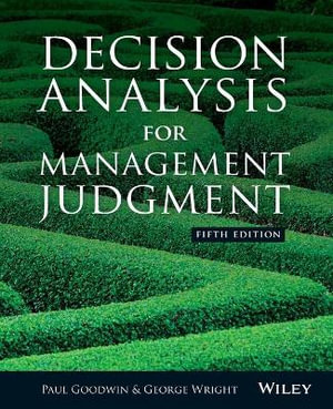 Cover of Decision Analysis for Management Judgment