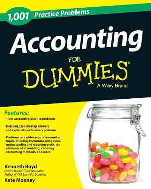 Cover of 1,001 Accounting Practice Problems For Dummies