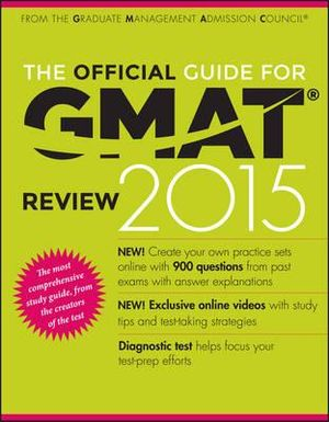 Cover of The Official Guide for GMAT Review 2015 with Online Question Bank and Exclusive Video