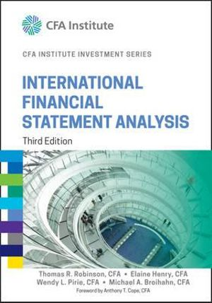 Cover of International Financial Statement Analysis, Third Edition (CFA Institute Investment Series)