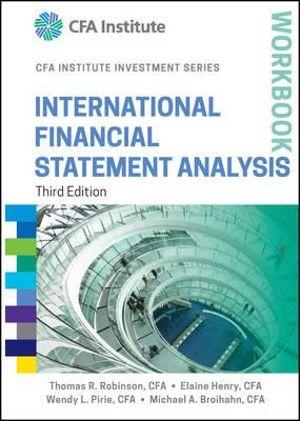 Cover of International Financial Statement Analysis Workbook