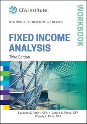 Cover of Fixed Income Analysis 3rd Edition Workbook