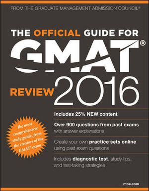 Cover of The Official Guide for GMAT Review 2016 with Online Question Bank and Exclusive Video