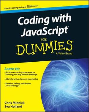 Cover of Coding with JavaScript For Dummies