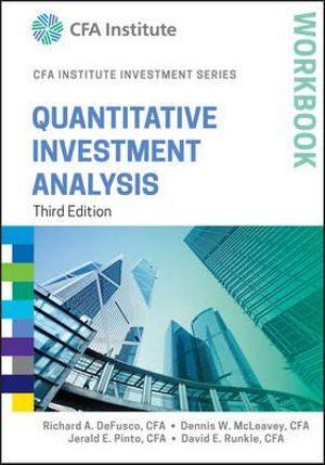 Cover of Quantitative Investment Analysis Workbook