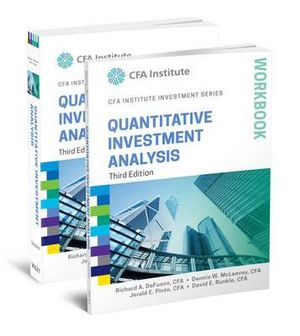 Cover of Quantitative Investment Analysis, Book and Workbook Set