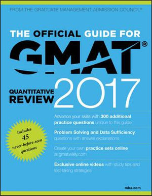 Cover of The Official Guide for GMAT Quantitative Review 2017 with Online Question Bank and Exclusive Video