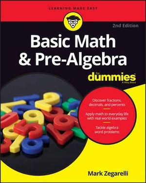 Cover of Basic Math and Pre-Algebra For Dummies