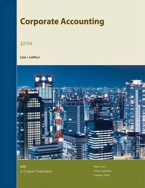 Cover of (Aucs) Corporate Accounting F/University of Technology Sydney (Black and White)