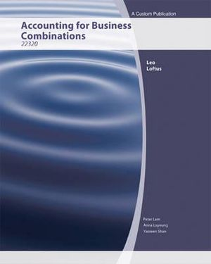 Cover of (Aucs) Accounting for Business Combinations for University of Technology Broadway (Black and White)