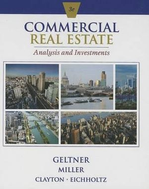 Cover of Commercial Real Estate Analysis and Investments (with CD-ROM)