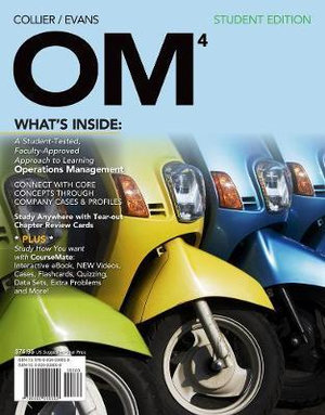 Cover of OM 4 (with Review Cards and Decision Sciences & Operations Management  CourseMate with eBook Printed Access Card)
