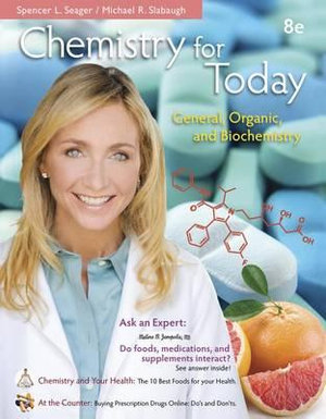 Cover of Chemistry for Today: General, Organic, and Biochemistry