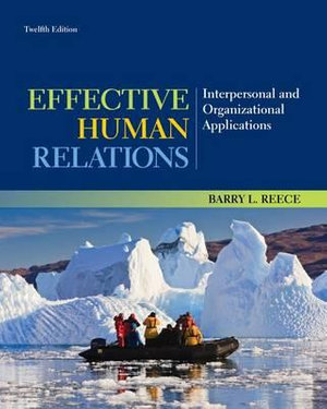 Cover of Effective Human Relations: Interpersonal and Organizational Applications