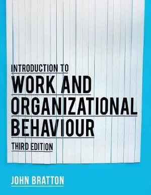 Cover of Introduction to work and organizational behaviour