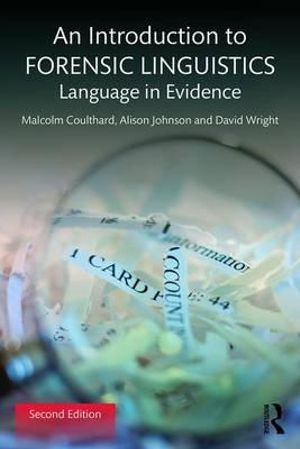 Cover of An Introduction to Forensic Linguistics