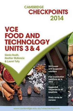 Cover of Cambridge Checkpoints VCE Food Technology Units 3 And 4 2014