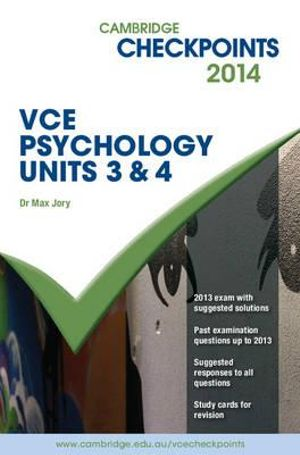 Cover of Cambridge Checkpoints VCE Psychology Units 3 And 4 2014