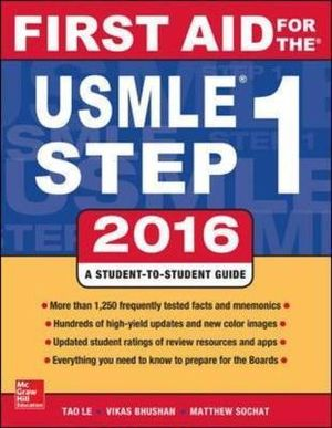 Cover of First Aid for the USMLE Step 1 2016