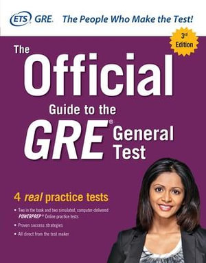 Cover of The Official Guide to the GRE General Test, Third Edition