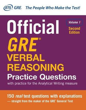 Cover of Official GRE Verbal Reasoning Practice Questions, Second Edition