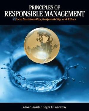 Cover of Principles of Responsible Management: Glocal Sustainability, Responsibility, and Ethics