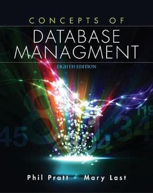 Cover of Concepts of Database Management