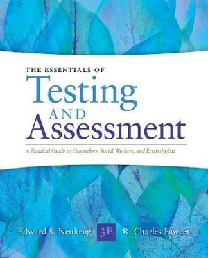 Cover of Essentials of Testing and Assessment: A Practical Guide for Counselors, Social Workers, and Psychologists