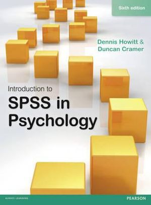 Cover of Introduction to SPSS in Psychology