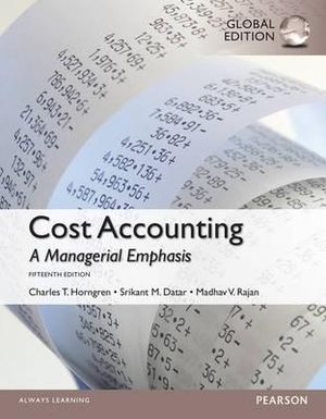 Cover of Cost Accounting, Global Edition