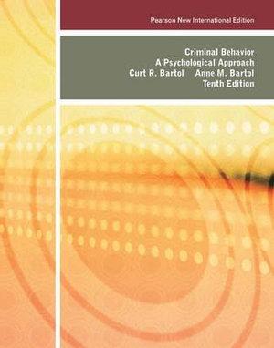 Cover of Criminal Behavior: Pearson New International Edition