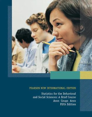 Cover of Statistics for the Behavioral and Social Sciences: Pearson New International Edition