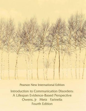 Cover of Introduction to Communication Disorders: Pearson New International Edition