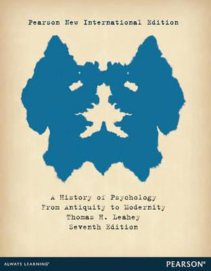 Cover of History of Psychology, A: From Antiquity to Modernity Pearson New International Edition