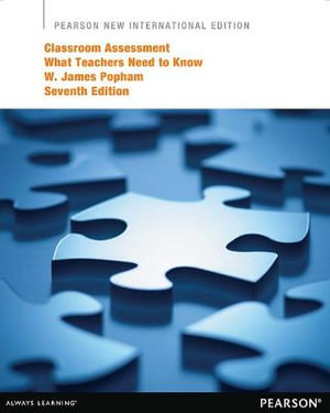 Cover of Classroom Assessment: Pearson New International Edition