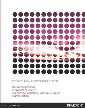 Cover of Research Methods: Pearson New International Edition