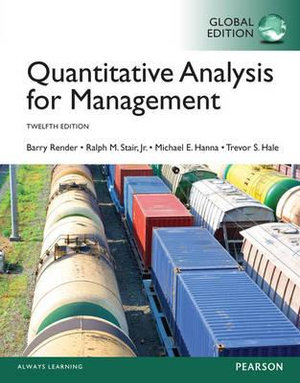Cover of Quantitative Analysis for Management, Global Edition