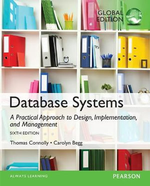 Cover of Database Systems: a Practical Approach to Design, Implementation, and Management