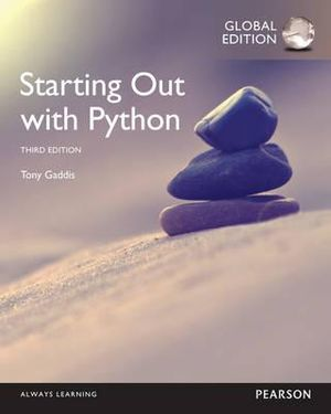 Cover of Starting Out with Python, Global Edition