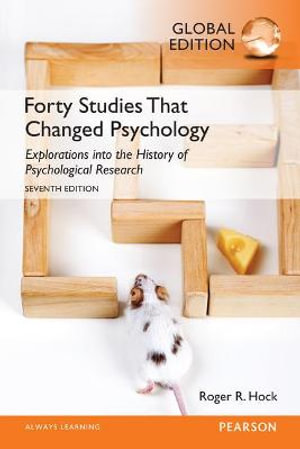 Cover of Forty Studies That Changed Psychology, Global Edition